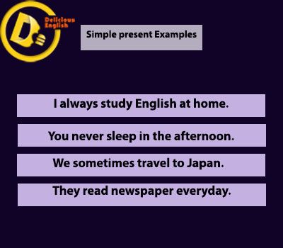 Simple present examples